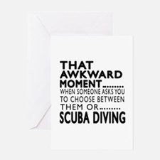 Scuba Diving Awkward Moment Designs Greeting Card