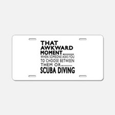 Scuba Diving Awkward Moment Aluminum License Plate