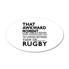 Rugby Awkward Moment Designs Wall Decal