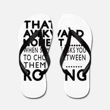 Rowing Awkward Moment Designs Flip Flops