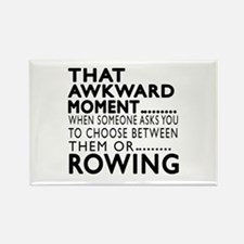 Rowing Awkward Moment Designs Rectangle Magnet
