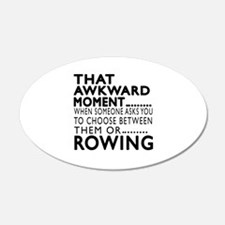 Rowing Awkward Moment Design Wall Decal