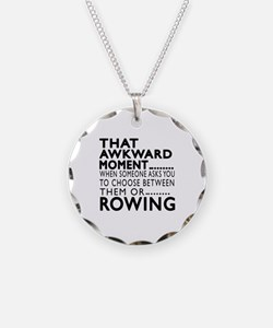 Rowing Awkward Moment Design Necklace
