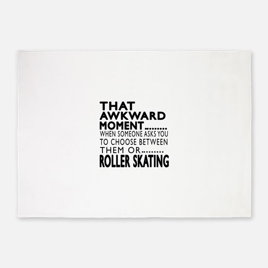 Roller Skating Awkward Moment Desig 5'x7'Area Rug