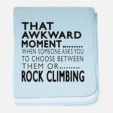 Rock Climbing Awkward Moment Designs baby blanket
