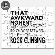 Rock Climbing Awkward Moment Designs Puzzle