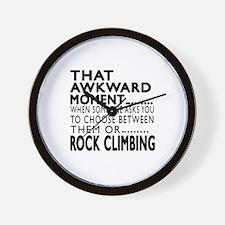 Rock Climbing Awkward Moment Designs Wall Clock
