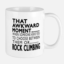 Rock Climbing Awkward Moment Designs Mug