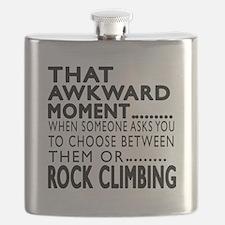 Rock Climbing Awkward Moment Designs Flask