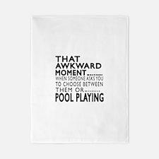 Pool Playing Awkward Moment Designs Twin Duvet
