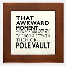 Pole vault Awkward Moment Designs Framed Tile