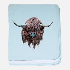 Scottish Highland Cow baby blanket