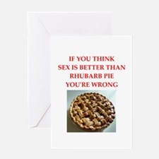 a funny food joke Greeting Cards