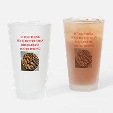 a funny food joke Drinking Glass