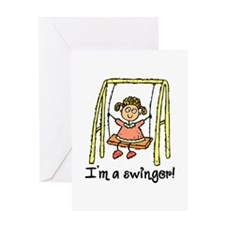I'm a Swinger! Greeting Card