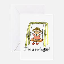 I'm a Swinger! Greeting Card