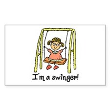 I'm a Swinger! Rectangle Decal