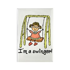 I'm a Swinger! Rectangle Magnet