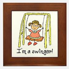 I'm a Swinger! Framed Tile