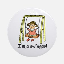 I'm a Swinger! Ornament (Round)
