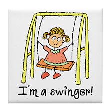 I'm a Swinger! Tile Coaster