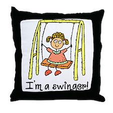 I'm a Swinger! Throw Pillow