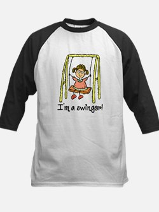 I'm a Swinger! Kids Baseball Jersey