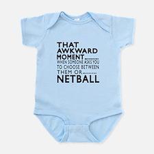 Netball Awkward Moment Designs Infant Bodysuit