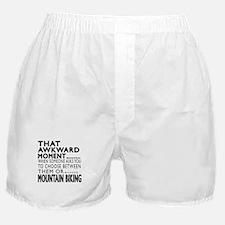 Mountain Biking Awkward Moment Design Boxer Shorts