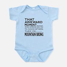 Mountain Biking Awkward Moment Des Infant Bodysuit