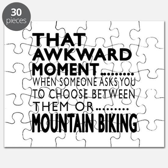 Mountain Biking Awkward Moment Designs Puzzle