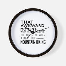 Mountain Biking Awkward Moment Designs Wall Clock