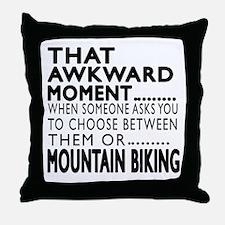 Mountain Biking Awkward Moment Design Throw Pillow