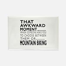 Mountain Biking Awkward Rectangle Magnet (10 pack)