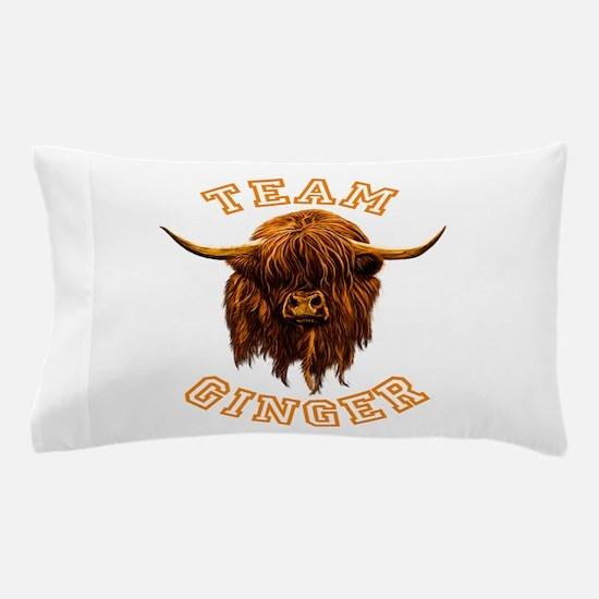 Team Ginger Scottish Highland Cow Pillow Case