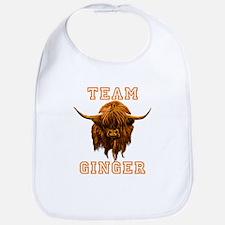 Team Ginger Scottish Highland Cow Bib