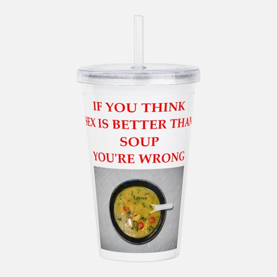 a funny food joke Acrylic Double-wall Tumbler