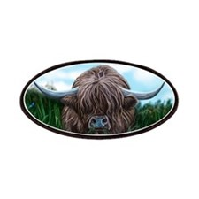 Scottish Highland Cow Painting Patches