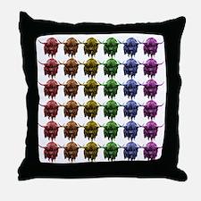 Rainbow Herd Throw Pillow