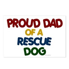Proud Dad Of Rescue Dog 1 Postcards (Package of 8)