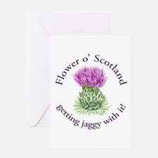 Jaggy Thistle Greeting Card