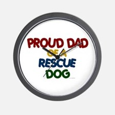 Proud Dad Of Rescue Dog 1 Wall Clock