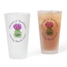 Scottish Thistle Drinking Glass