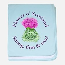 Scottish Thistle baby blanket
