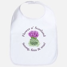 Scottish Thistle Bib
