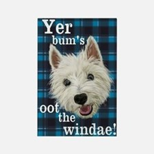 Cute Westie sayings Rectangle Magnet
