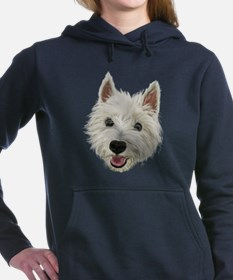 Smiling Westie Women's Hooded Sweatshirt
