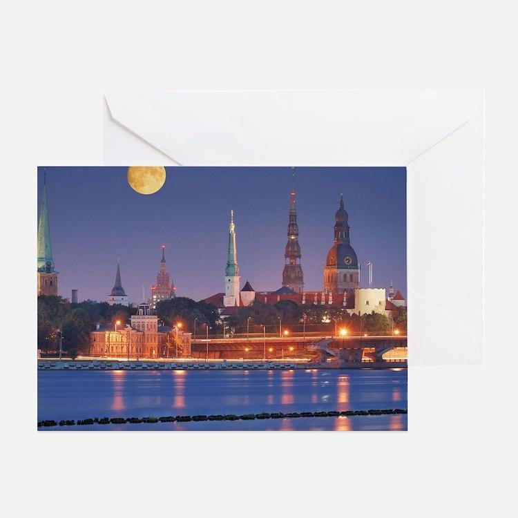 Cute Riga Greeting Card