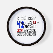 I am not 42 Birthday Designs Wall Clock