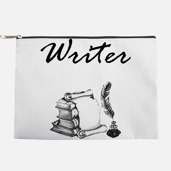 Writer Books and Quill Makeup Bag